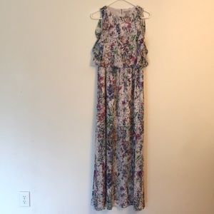 H&M long sleeveless floral dress NWT size 10